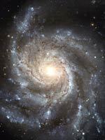 Спиральная Галактика M101 (фото Хаббла)