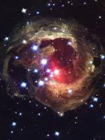 Туманность «V838» (фото Хаббла)