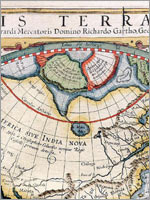 Изображение континента Даария в Атласе Герарда Меркатора, 1595 г.
