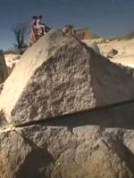 Фото 39. След от дисковой пилы на блоке в районе Храма Сахура в Абусире