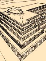 Боливия: пирамида платформы Акапана в Тиауанако