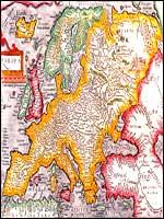 Карта Европы Johann Bussemachaer, 1598 год