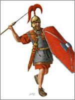 Голозадая и голоногая, плохо вооружённая римская пехота...
