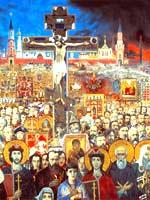 Картина Ильи Глазунова «Вечная Россия»