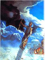 Мировая гора в верхнем левом углу картины Ильи Глазунова «Вечная Россия»