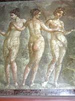 Три грации. Помпейская фреска. Национальный археологический музей Неаполя