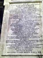 Эпитафия погибшим от извержения 1631 года. Торре дель Греко