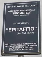 Табличка культурной ассоциации «Прометей». Торре дель Греко