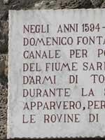 Мемориальная доска. Помпеи