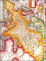 Карта Европы конца 16 века. Везде – Великая Тартария