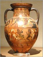 Этрусская Чернофигурная амфора. 540-530 гг. до н.э.