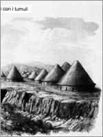 Реконструкция этрусского некрополя Монтероцци, сделанная Каниной. Тарквиния