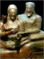 Этрусский саркофаг супругов из некрополя Бандитачча_6 век до н.э.