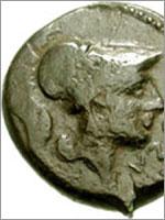 Этрусская Монета с изображением Минервы. 273-250 гг. до н.э.