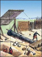 Рис. 2. Применение бомбарды
