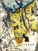 Рис. 6. Фрагмент карты «Расположение Русской Московии и Тартарии» Антони Дженкинсона, созданной в Лондоне в 1562 году