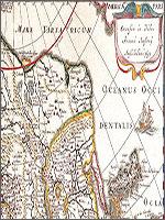 Рис. 7. Фрагмент карты Азии, выпущенной в Амстердаме в 1632 году