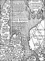Рис. 8. Фрагмент карты Тартарской империи, выпущенной в Падуе в 1621 году