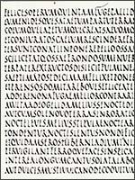 Рустический (Римский) рукописный шрифт