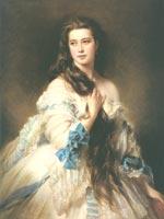 Ф.К. Винтерхальтер. Портрет В.Д. Римской-Корсаковой, музей Орсэ, Париж, 1864