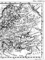 Карта Европы из первого издания Британской Энциклопедии