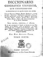 ��������� ���� ��������� ������������ Diccionario Geografico Universal, 1795