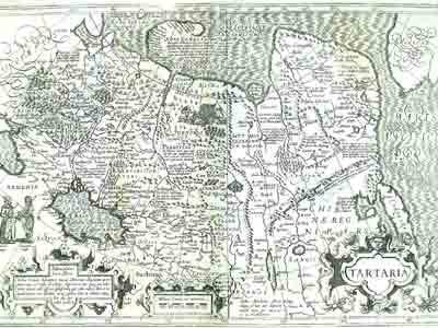 Карта Тартарии Йодокуса Хондиуса (Jodocus Hondius)