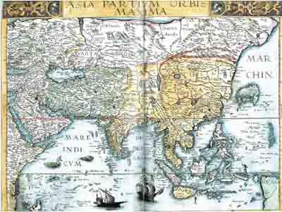 Голландская карта Азии, 1595