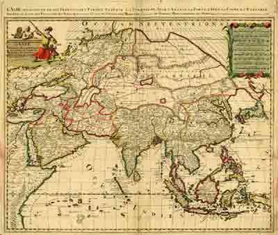 Голланская карта Питера Шенка (Pieter Schenk)