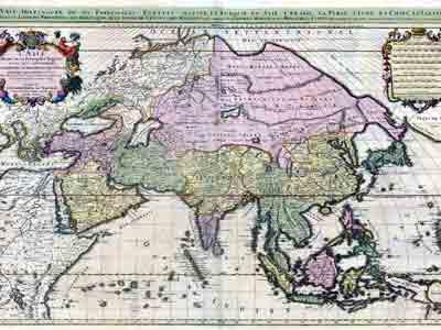 Франзцузская карта Азии, 1692