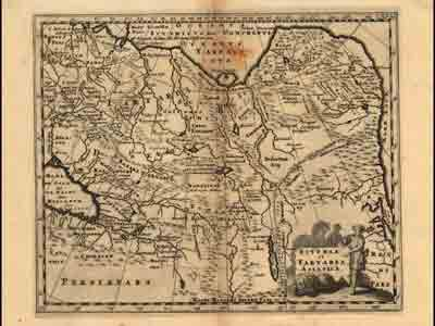 Карта Азии и Скифии (Scythia et Tartaria Asiatica), 1697
