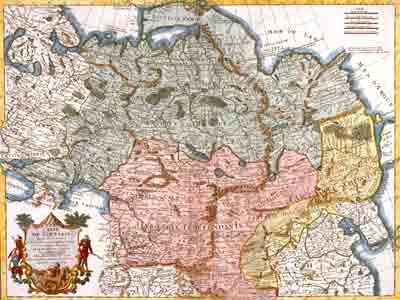 Карта Тартарии Гийома де Лиля, 1706