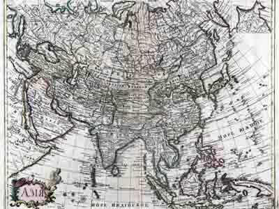 Русская карта Тартарии, 1745