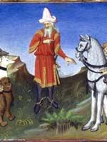 «Монгольский» хан Хубилай на охоте (Kubilai et les animaux de chasse)