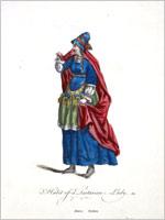 Костюм тартарской женщины 1577 года (Джефри)