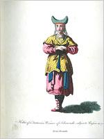 Костюм тартарской женщины-чувашки 1762 года (Джефри)