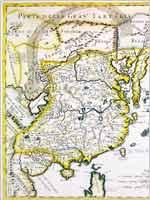 Карта Китая 1682 года Джакомо Кантелли и Джованни Джакомо ди Росси