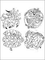 Кельтский стиль изображения животных