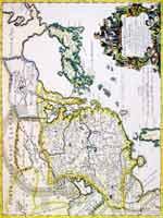 Карта Китая Джакомо Кантелли 1682 г.