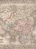 Карта геополитического деления Азии, 1871 г.