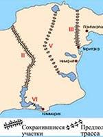 Карта «киммерийских» валов в Крыму