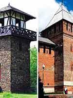 Слева направо: «римская» башня германского вала, башня Донец Смоленской крепостной стены, башня «китайской» стены