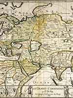 Карта Азии французского картографа Пьера Дюваля (Pierre Du Val (1619-1683)) Le Grand Continent par P. Du-Val Geographe Ordinaire du Roy 1684