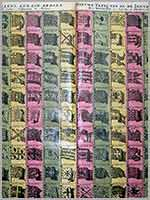 Морские флаги в голландской таблице Питера Шенка (Petrus Schenk) Table des Pavillons, quil'on Arbore... Nieuwe Tafel van al de Zee-Vaarende Vlagge des Weerelts, 18 в.