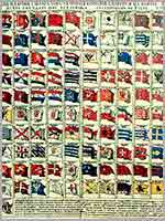 «Изъявлении морских флагов всех государств вселенныя», 1709 г.