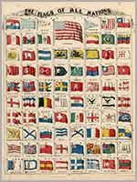 Флаг Тартарии в таблице морских флагов, 19 в.