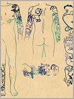 Татуировки скифского вождя из второго Пазырыкского кургана. Горный Алтай, IV в. до н.э.