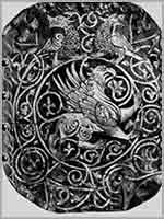 Грифоны на воротах храма в Суздале