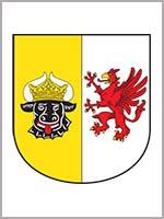 Грифон на малом гербе земли Германии Мекленбург-Передняя Померания