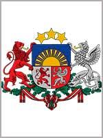 Грифон на большом гербе Латвии